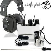 Top-Abhörset zum Hören durch Wände- Verstärker mit Nadelmikrofon und Stethoskop.