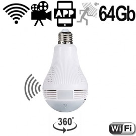 WIFI HD-SpyCam in LED-Lampe