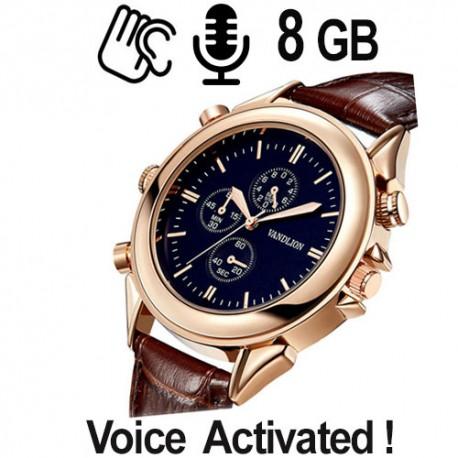 Armbanduhr SPY-Recorder, Voice-Activated, 16 GB, für ca. 80 Stunden Aufnahme.
