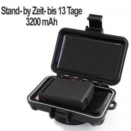 Schutzbox mit Stromversorgung: Schutzbox für GPS-Peilsender mit starkem Haft-Magnet.