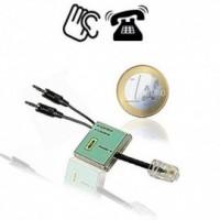 Einziges Gerät auf dem Weltmarkt zum Direktanschluss am ISDN-Bus für simultanen Mittschnitt der ISDN-Basiskanäle 1 + 2.
