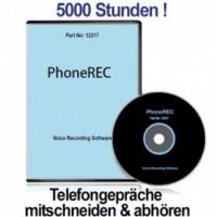 PHONE-REC bietet unbegrenzten Telefon-Mitschnitt auf dem PC- 5000 Std. Telefongepräche mitschneiden !