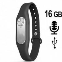 Armband SPY-Recorder, 16 GB, hohe Aufnahmekapazität bis 280 Stunden.