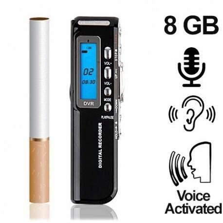 Mini-Voice-Recorder, 8GB, bis 1200 Std., Voice-Activated für lückenlose automatische Aufnahmen.