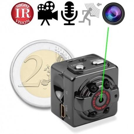 HD Mini-SpyCam mit IR-Nachtsicht: Bild-, Ton-, Video- Aufnahme, Motion Detection. Videoüberwachung im Kleinstformat !
