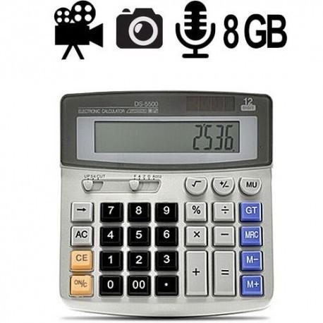 Mini HD Spy Kamera versteckt im Taschenrechner, brillante Video-, Audio- und Bildaufnahmen, interner 8 GB Speicher.
