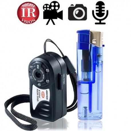 Full-HD Mini-SpyCam & IR-Nachtsicht, bis 32 GB, echtzeit Audio & Full HD Video Aufnahmen: Videodateien werden automatisch alle 5