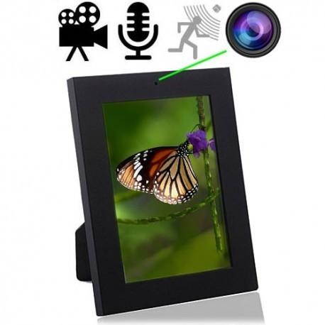SpyCam im Bilderrahmen, bis 32 GB, Bewegungs-Sensor für automatischen Aufnahmestart.