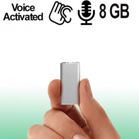 Einer der kleinsten Spionage-Voicerecorder der Welt, 8 Gb,Voice-Activated für lückenlose automatische Aufnahmen.