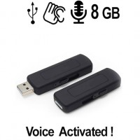 Spionage Voice-Recorder (Audiowanze) getarnt im USB-Stick, Voice-Activated, unkomplizierte Ein-Tasten-Bedienung.