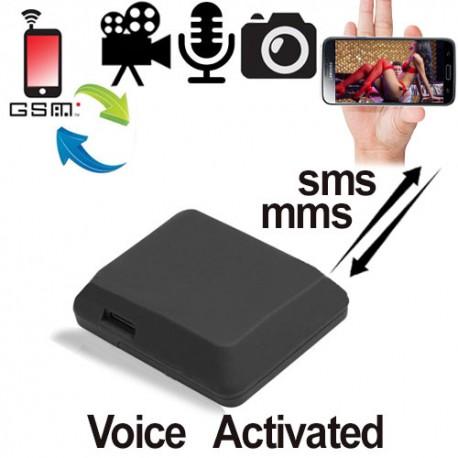 GSM Fern-Abhörgerät Audio-, Foto-, Video-Falle in einem: macht Live-Fotos und sendet diese als MMS an Ihr Handy