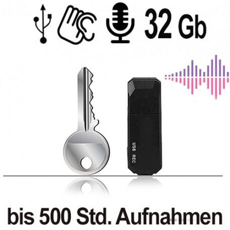 USB-Audiorecorder, 32 Gb. Audioüberwachung per USB Stick Abhörwanze.