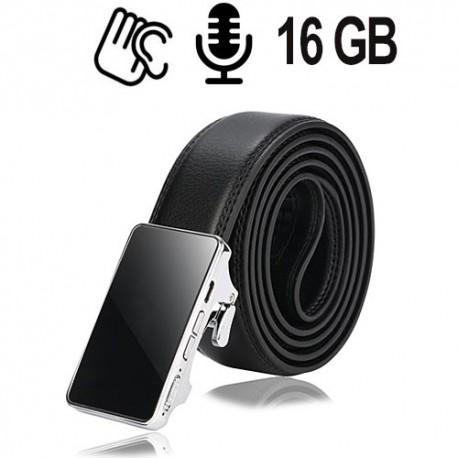 Gürtel Spy-Recorder, 16 GB. Die Audio-Wanze im Hosengürtel ist nicht erkennbar.