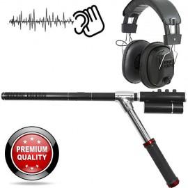 Professionelles Hochleistungs-Richtmikrofon für Ermittlungen durch Audio-Observation