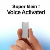 Einer der kleinsten Spionage-Voicerecorder der Welt. Voice-Activated für lückenlose automatische Aufnahmen.
