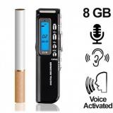 Digital-Voice-Recorder bis 600 Stunden Aufnahme möglich. Voice-Activated für lückenlose automatische Aufnahmen.