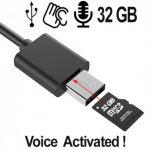 Getarner Spionagerecorder versteckt im USB-Kabel