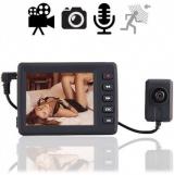 Knopfloch-Spionkamera mit Mini-Videorecorder im Westentaschenformat, perfekt für mobile und investigative Videoaufzeichnung